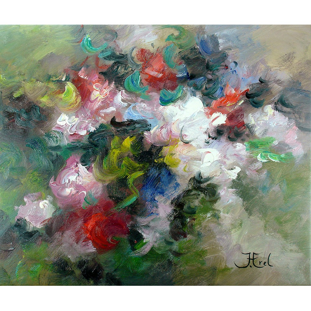 Schilderij Vibrant Roses John Frel Galerie Art Unica Amersfoort