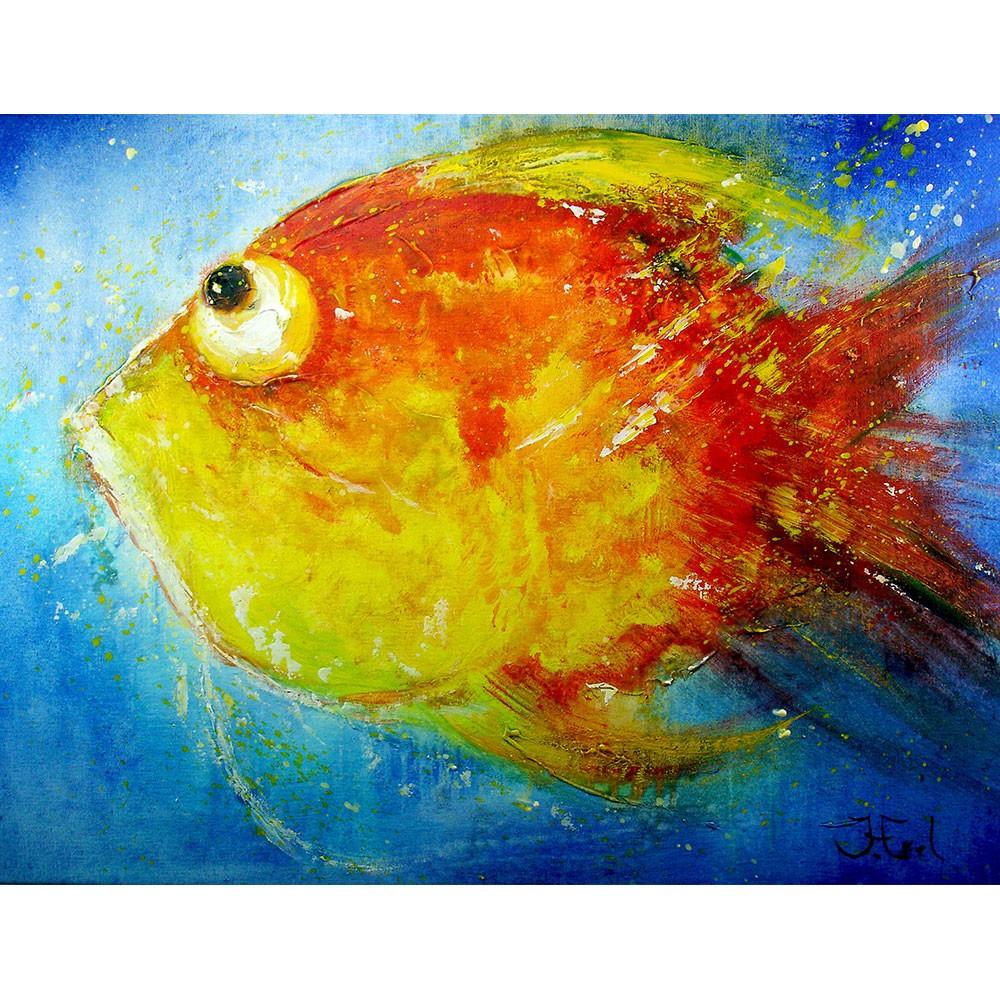 Schilderij John Frel Loving this Water Art Unica