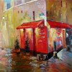 Impressionisme John Frel Corner Store Montmartre Art Unica