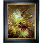 Schilderij Impressionisme John Frel Expressive Flowers met sierlijst
